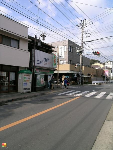 長谷駅から徒歩で高徳院へ