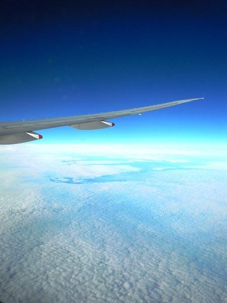 オーストラリア大陸上空