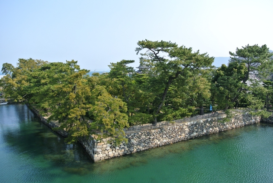 高松城 天守跡からの眺め