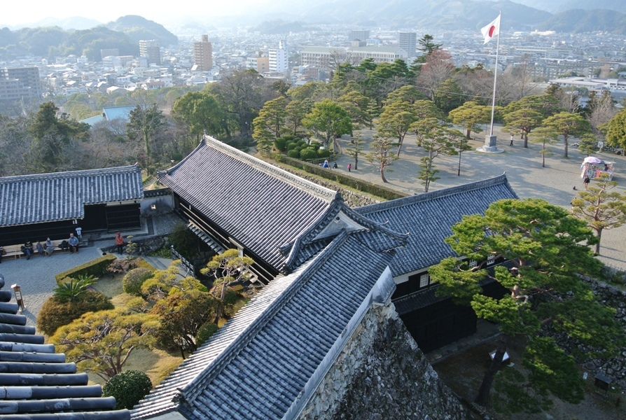 高知城 天守からの眺め